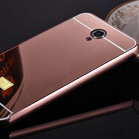 acustyle (TM) nuevo lujo funda para Xiaomi Redmi Note 2tapa trasera espejo de acrílico marco de metal de aluminio para Xiaomi Redmi Teléfono Shell Bolsa capa, compatible con Samsung Galaxy Note 2, color oro rosa