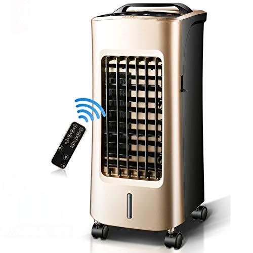 WLJ Klimaanlage Geräuschlos leiser Klimaanlagenlüfter, Verdunstungskühler Mit Fernbedienung Doppelter Einsatz für kalte und warme Luftkühler 4 Lenkräder Air-A Luftkühler Ventilator (Farbe : A)