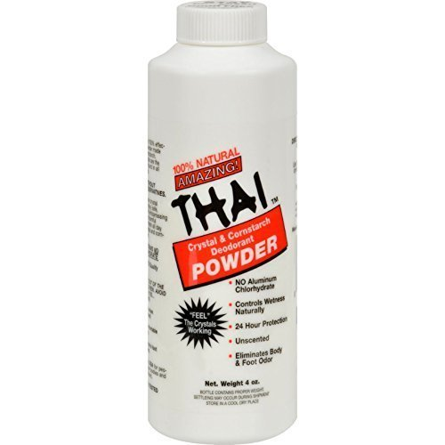 Thai Deodorant Stone Thai Body Powder 3 oz ( Multi-Pack)