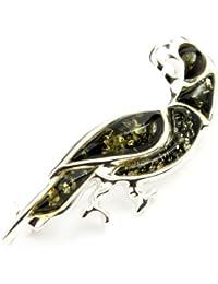 925 pulsera de plata de ley y joyas de ámbar báltico - Funda de broche AC802