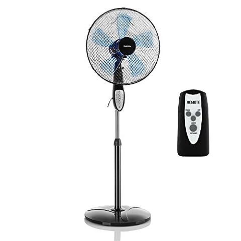 Klarstein Summerjam • Ventilator • Standventilator • mit Fernbedienung • leise • 5-Blatt-Rotor • 16