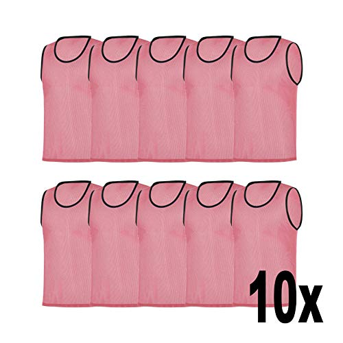 RHINOS sports Trainingsleibchen 10er-Set, Größe:XL, Farbe:pink