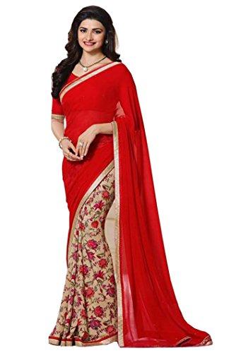 Shivalika Tex Georgette Saree (Prachi_Red_183_Red)