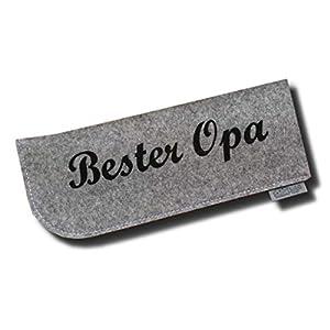 Brillenetui aus 100% Wollfilz Opa Grau/Schwarz