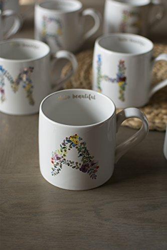 Btftkjbf Lettre De Vigne Fleurs Mug Tasse À Café En Céramique Tasse De Lait,Super Capacité Coupe -Une Fleur
