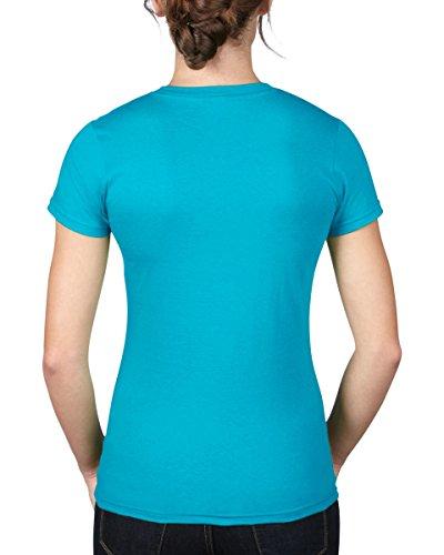 Anvil Damen T-Shirt tailliert / 379 Karibikblau