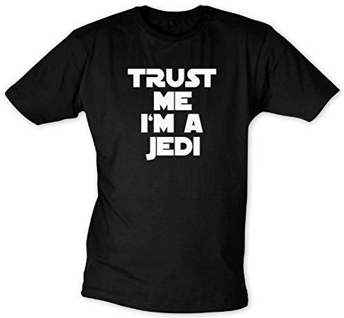 Ritter-erwachsenen T-shirt (Trust me I'm a Jedi T-Shirt - T-Shirt (XXL))