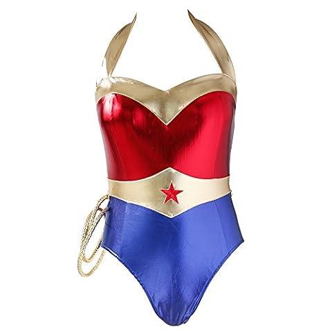 Costumes Wonder Seductress Superhero - NewDance Wonder Woman Warrior Costume Sexy Halter