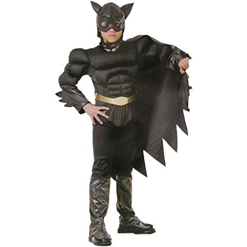 Glooke Selected Batman Kostüm Kinder 8+, Schwarz, 8010362374505 (Schwarze Batman Kostüm)