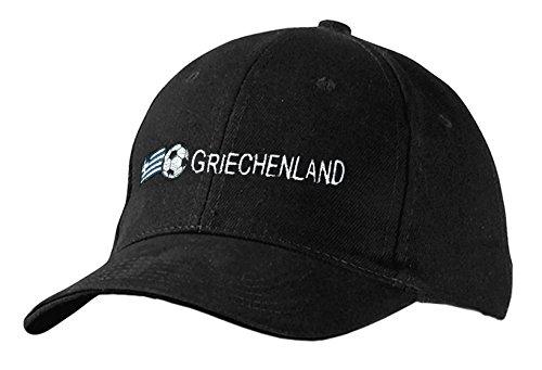 Fan-O-Menal Baseballcap mit Stick - Griechenland - 69066 Schwarz - Cap Kappe...