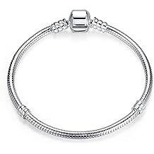 Charms Bracelet pour femme argent 925 Pour Pandora, bracelets européens Compatible (18cm)