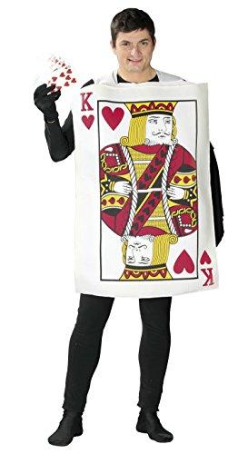 Guirca-Kostüm Erwachsene König von Karten, Größe - Ass Karte Kostüm