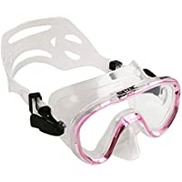 SEAC Marina, Maschera Subacquea Slt per Snorkeling e Gioco in Mare Unisex Bambini, Rosa, Piccola