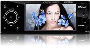 """XOMAX xM-dTSB4800 blypower solution embarquée avec caméra autoradio & de vidéos bluetooth pour smartphone, lecteur mP3, téléphone portable etc. 4,2 """"/ 11 cm 16:9 tFT lCD écran tactile, un lecteur cD mP3 uSB sD audio vidéo pour slot & dimension dIN einbaugröße façade amovible avec télécommande"""