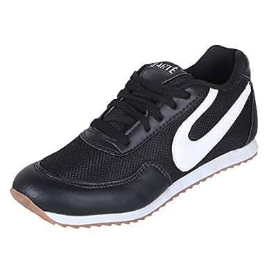ILARTE Men's Black ,White Pu Running Shoe (Uk/Ind - 6)