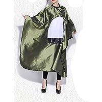 DANTB Minimalist Hair Salons Vestido De Corte De Pelo De Alto Grado Impermeable Translúcido 160 * 144CM(Green)