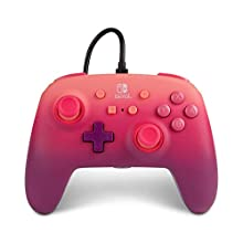 PowerA Enhanced Wired Controller for Nintendo Switch - Fuchsia Fantasy, pink, red, purple, gamepad, wired video game controller, gaming controller
