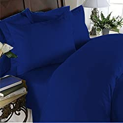 ItalianHome Collections 3PC Duvet Set 600 Thread Count Single 100% Egyptian Cotton Egyptian Blue Solid by HotHaat