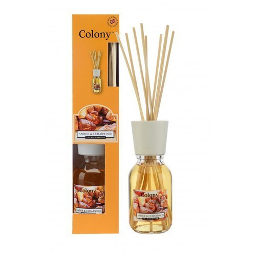 Reed Diffuser - Amber & Cedarwood 120 ml Reed & Amp