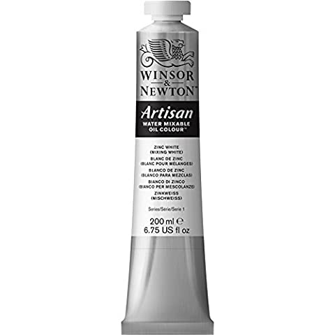 Winsor & Newton Artisan wassermischbare Ölfarbe, 200 ml Tube - Zinkweiss