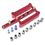 Sharplace Dübelleiste selbstzentrierend für metrische Dübeln 6/8/10 mm Präzises Bohren Werkzeug, Bohrungsführung Holzbearbeitungs Positionierer Tools