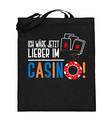 Ich Wäre Jetzt Liebe im Casino - Jutebeutel (mit langen Henkeln)