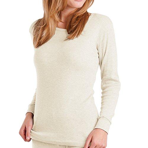 Frost Klar Weiße Form (MT® Damen Thermo Langarmhemd Ecru-XL)