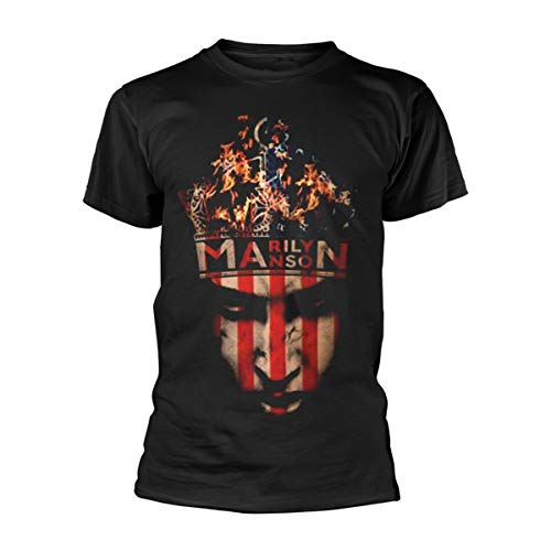 Marilyn Manson Herren, T-Shirt, Crown, Schwarz (Black), M -