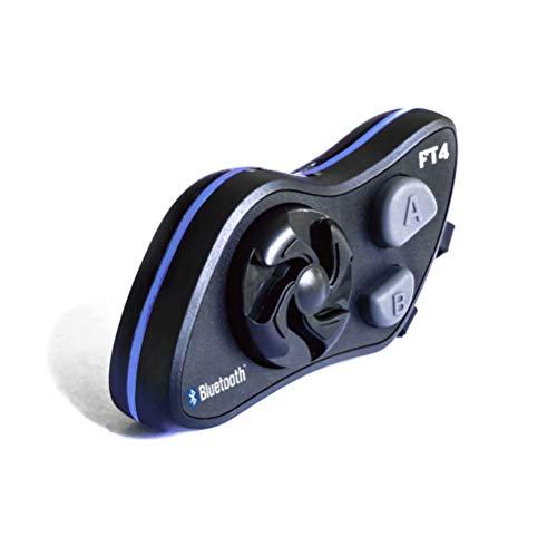 LEXIN FT4 Motorradhelm Intercom, Bluetooth Headset Motorrad Gegensprechanlage Kommunikation System mit FM Motorradhelm-Intercom Reichweite bis zu 2000 Metern für Motorradfahren und Skifahren