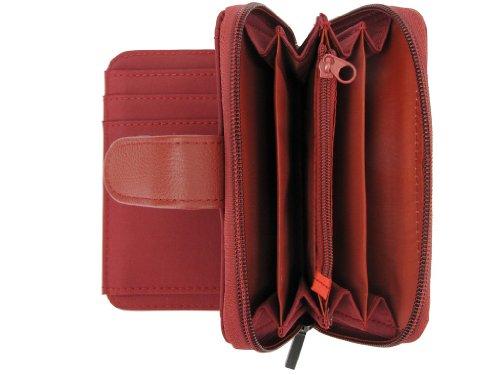 Lorenz Damen Geldbörse mit Reißverschluss, verschiedene Farben Rote