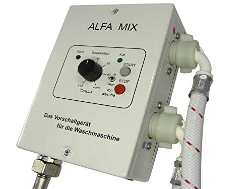 Waschmaschinen Vorschaltgerät Sparsteuerrung Alfa Mix inkl. 2 Zulaufschläuche - sparen Sie teuren Strom für Ihre Waschmaschine oder Spülmaschine