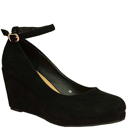Cucu Fashion 2017 Brand Ladies Womens Wedge Pumps Ankle Strap High Heels...