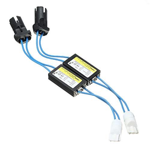 Lot de 2 résistances/décodeurs pour résoudre erreurs et avertissement des bus de données CAN pour ampoules LED T10 W5 W T15 194 168 921