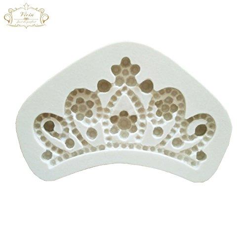 Vivin Königin Princess Crown-Kuchen-Form-Silikon-Design-Matte für Kuchen, kleine Kuchen Sugar Süßigkeiten Perlen Fondant Paste Bead