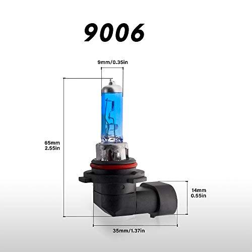 9006/HB4 Lampadine per fari alogeni 100W 6000K Bianco caldo Abbagliante/Anabbaglianti Lampada 12V Auto Lampadina, 2 pezzi
