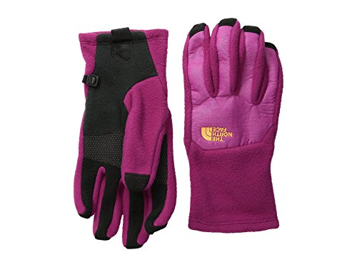 The North Face Denali Etip Glove Womens Dramatic Plum/Luminous Pink Heather Small Womens North Face Denali Fleece