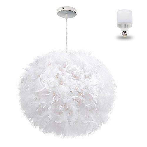 Moderne weiße Leuchte im Federball Kostüm