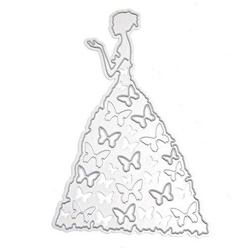 yibenwanligod Formen Prinzessin Engel Metall Embossing Schablone DIY Album Scrapbooking Papier Karte Art Craft, Karbonstahl, princess, Einheitsgröße