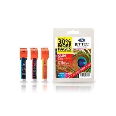 Preisvergleich Produktbild Jet Tec–cl56cmy Tintenpatrone gelb (cyan, magenta, gelb Tintenpatronen für Canon Pixma iP4850, iP4950, iX6550, MG5150, MG5250, MG5350, MG6150, MG6250, MG8150, MX715, MX885,..., Inkjet, 1x)