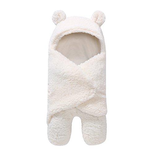 Fairy Baby Automne et Hiver Sac de Couchage Bébé Type de Jambe Nouveau-Né Câlin Chaud et Velou size F (White)