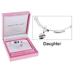Idea Regalo - Equilibrium, braccialetto per figlia Little Girls Sentiment, per bambine dai 3 anni in su