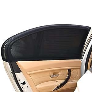 2pcs pare soleil auto fen tre lat rale parasol universel pliable de voiture visibilit. Black Bedroom Furniture Sets. Home Design Ideas