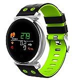 Sunlera OLED-Bildschirm Bluetooth Smart Watch IP68 Wasserdichtes Blutdruck Herzfrequenz-Test-Pedometer-Uhr