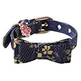 Amphia - Einstellbare Nylon Fußabdrücke Halsband Hund Welpen Haustier Halsbänder mit Glocken(L)
