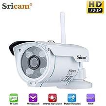 Tsing Cámara IP de Vigilancia inalámbrica 720P CCTV ONVIF(Wifi, IR-Cut, Vision nocturna, H. 264, Detección de movimiento), Color Blanco
