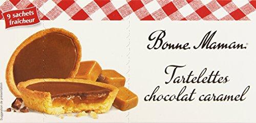 Bonne-Maman Tartelettes au Chocolat Caramel 9 Sachets Individuels - 135 g