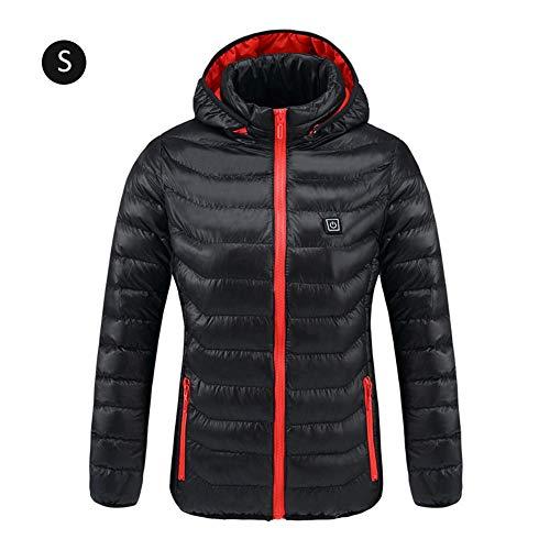 Chaqueta eléctrica con calefacción,Chaleco USB recargable con calefacción de invierno Abrigo cálido Chaqueta térmica de grafeno para ciclismo al aire libre/esquí/senderismo para hombres mujeres