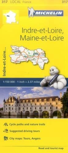 Mapa Local Indre-et-Loire, Maine-et-Loire (Mapas Local Michelin) por Vv.Aa.