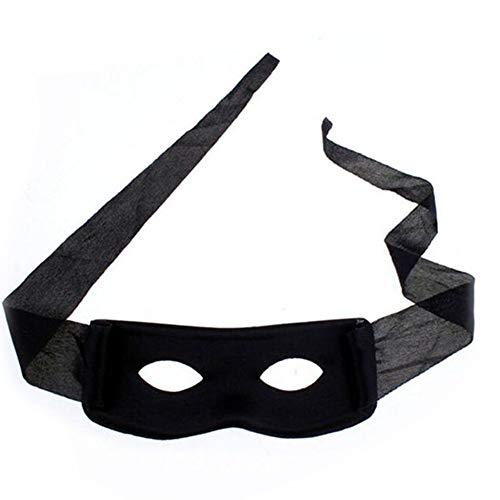 4Stk kreative Dieb Augenmasken Bequeme Bandit Fancy Masken Multi Usage Robber Maskerade Schablonen für Party Props Schwarz Kleidung ()