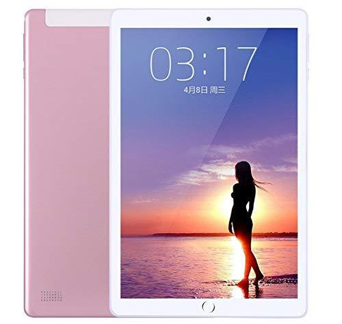 Zehn-Kern-Spiel Huhn Tablet zu Essen Smart ultradünnen großen Bildschirm iPad4G Anruf Dual-Karte Dual-Standby-10,1 Zoll (Pink) (M5 Smart-tv-box)